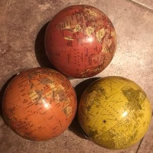 Mini Globes Set Earth Maps decor set